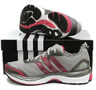 Adidas adistar solution womens grey synthetic lace up running trainers G44327