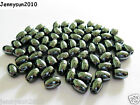 100pcs Natural Black Jet Hematite Gemstone Rice Spacer Beads 4mm 6mm 8mm 12mm