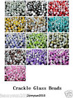 100pcs Smooth Crackled Glass Round Spacer Loose Beads 8mm 10mm Jewelry Cafts