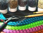 """Feather Hair Extension TOOL KITS 14""""-16"""" Feather/Plier/Tool Silicone Micro BEAD"""