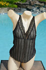 Arianne 'Vicky' Lined Lace V Neck Camisole NWT Black