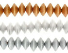 22 x Saucer Shaped Hand Made Eco-Sustainable Wooden Beads 17x10mm Metallic