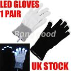 1 Pair Glow Finger Flashing LED Light Gloves Rave Dance Mitten Disco Halloween