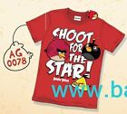 T-shirt Angry Birds Ragazzo Uomo Unisex Vintage SHOOT STAR AGL078 Washed Style
