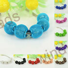 Wholesale 15mm Mesh Net Ball Large Hole Spacer European Beads Fit Charm Bracelet