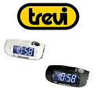 Trevi Digital Bedside Alarm Clock & FM AM Radio in White or Black FREE DELIVERY