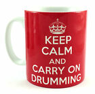 NEW KEEP CALM AND CARRY ON DRUMMING GIFT MUG CUP RETRO BRITANNIA DRUMMER DRUM
