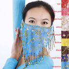 Brand New Hand Made Belly Dance Fine Mesh Face Veils 9Colours