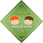 Brother & Sister on Board Car Signs Child/Baby - Choice of 18 Different Designs