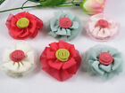 20Pc gauze cabbage flowers Wedding Appliques / Sewing Craft Lots -( Pick color)