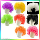 Clown Bob Afro Circus Hair Wig for Adult Costume Halloween Ball Party