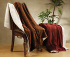 "50"" x 60"" SOFT BLANKET THROW LAMBSWOOL/FAUX FUR THROW BLANKETS"