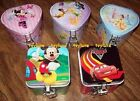 Disney Collectors Tin Box w/ LOCK & KEY Princess Fairies Minnie Mickey Cars NEW