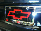 Corvette C6 Chrome license plate frame, raised letters & logos, high quality