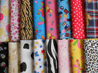 Polycotton Fabric Remnant Bundles 8~£3.50 16~£6 Free post 25x25cm Craft~Hobby