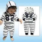 "NWT Vaenait Baby Newborn Toddler Girl Boy 's Hoodie One-Piece ""White Stripe 82"""