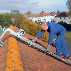 Extending Roof Ladder c/w Hook & Wheels Choice of 2 Sizes 2 Section Aluminium