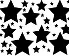 182 STARS STICKERS - Use on car, home, furniture, 22 colour choices [S4]