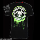 DARKSIDE CLOTHING GREEN GLOW IN THE DARK ZOMBIE T-SHIRT ZOMBIE RESPONSE NEW