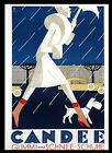 Fashion Lady Scottish Terrier Dog Candee Snow Boots Vintage Poster Repo FREE S/H
