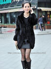 100% Genuine New Knitted Mink Fur Coat Clothing Jacket 2 Colors Hoody Fashion