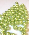 Light Green Glass Pearl Beads 4mm, 6mm, 8mm, 10mm choose your size, multi choice