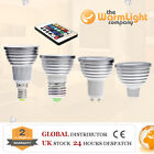 GU10 E27 E14 B22 MR16 GU5.3 MR11 3W LED RGB Colour Changing Spotlight Light Bulb