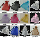 Mix Color 7x9 10x12 12x17cm Organza Pouch Candy Gift Bags Wedding Favour Bag