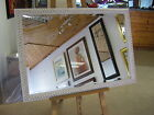78mm WHITE &GOLD SHABBY CHIC STYLE WALL AND OVERMANTLE MIRRORS - VARIOUS SIZES