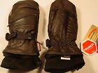 New Reusch Ski Mittens Martock Rtex XT Adult Men's Black Leather #4002503