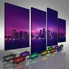 New York City At Night Offset Canvas Print Large Picture Wall Art