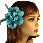 Flower Hair Clip Feather Fascinator Pin Multi-Color