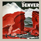 Внешний вид - See Denver Colorado Rocky Mountains Travel Tourism Vintage Poster Repro FREE S/H