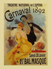 Carnival Bal Mask Opera Vintage Show France French Poster Repro FREE S/H