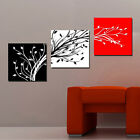 Abstract art tree branches red/black/white modern Canvas Print Set ready to hang