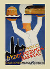 Bakery Bread Cakes Pastries Pies Baked Cook Food Vintage Poster Repro FREE S/H