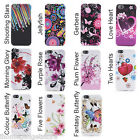 New TPU Flower Soft Case Cover Fits iPhone 5 5S + FREE Screen Protector & Cloth