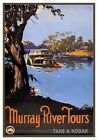 Murray River Tours. Australia. Vintage Travel poster by James Northfield