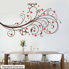 Decorative Swirls With Flowers - Wall Decal Sticker lounge living room bedroom