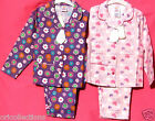 BNWT.GIRLS**DAISY & LOVEHEART**WINCYETTE**BUTTON-UP LONG PYJAMAS assorted sizes