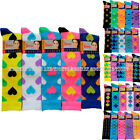 Lot 5 pairs NEON,heart,stars,argyle,dots womens/girls Knee-high socks 9-11