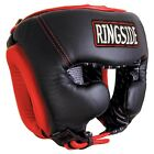 Ringside Traditional Training Boxing Headgear Black Red mma muay thai protection