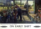 On Early Shift Greenwood Signal box New Barnet BR Vintage Travel Poster by Cuneo