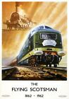 The Flying Scotsman, 1862-1962. BR Vintage Travel Poster art print by Bagley.