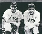 Lou Gehrig Babe Ruth New York Yankees dugout  8x10 11x14 16x20 photo 469