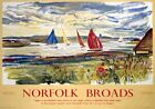 Norfolk Broads, Sailing. BR (ER) Vintage Travel Poster art by Raymond Piper 1963