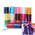 250 Yards 1CM 1 Roll 10 Pcs Satin Ribbon Wedding Craft Sewing Favours 18 Colors