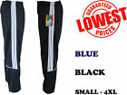 New Mens Striped Silky Joggers, Bottoms - Zipped Pockets Work,Gym - Black,  Navy