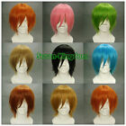 8 colors Fashion Heat Resistant Short Straight Cosplay wigs Party Full wig #2