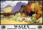 Wales Unsurpassed for Scenic Grandeur. GWR Vintage Travel Poster, Michael Reilly